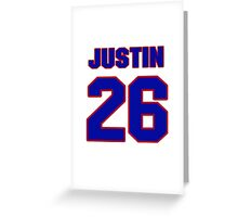 National Hockey player Justin Papineau jersey 26 Greeting Card