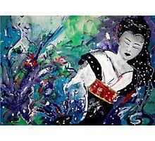 Geisha Dreaming Photographic Print
