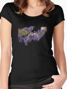 Wisteria Tee Women's Fitted Scoop T-Shirt