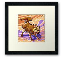 Shiny Mightyena the dark pokemon Framed Print