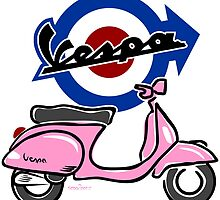 Vespa LX scooter pink by car2oonz