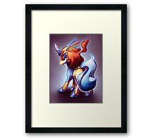 Keldeo the legendary pokemon Framed Print