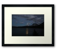 Moon rise on St. Mary lake Framed Print