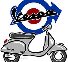 Vespa LX scooter silver by car2oonz