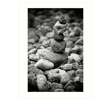 feather and stones Art Print