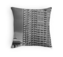 Seattle Space Needle and High Rise Throw Pillow