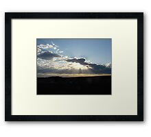 Perfect Sun Rays in my Brother's Backyard! Framed Print