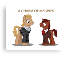 Charm of Magpies ponies Canvas Print