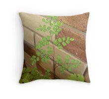 Green Leafy Fern Throw Pillow