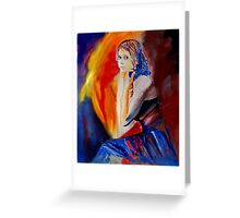 young girl 670508 Greeting Card