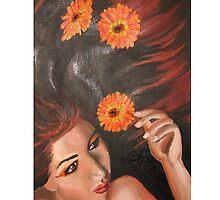 Floating Chrysanthemums by jinsunpyo