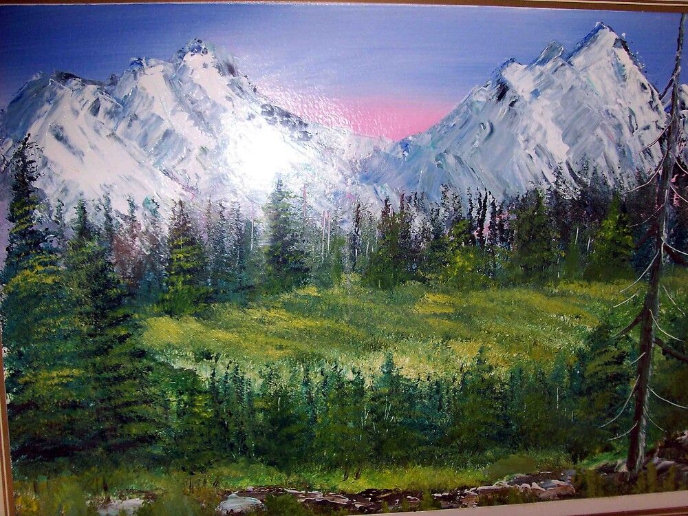 Rockies wilderness oil painting by coolart