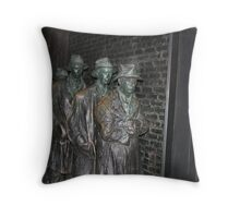 The bread line Throw Pillow