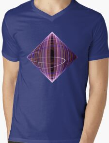 Diamond Swirl Mens V-Neck T-Shirt
