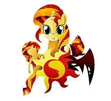 3 Forms of Sunset Shimmer Photographic Print