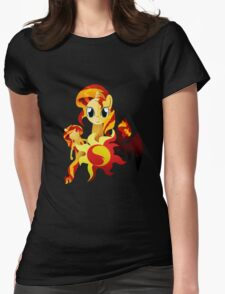 3 Forms of Sunset Shimmer Womens Fitted T-Shirt