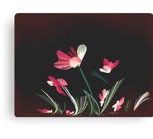 flowers, wind, salmon grass bend Canvas Print