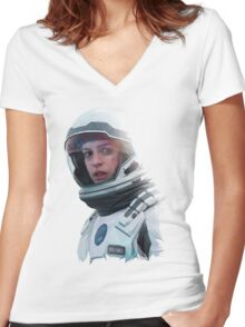 INTERSTELLAR - BRAND Women's Fitted V-Neck T-Shirt