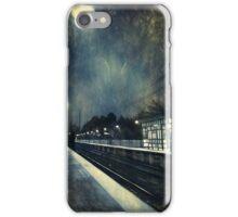 Empty Platform at Dawn, Stony Brook Station iPhone Case/Skin