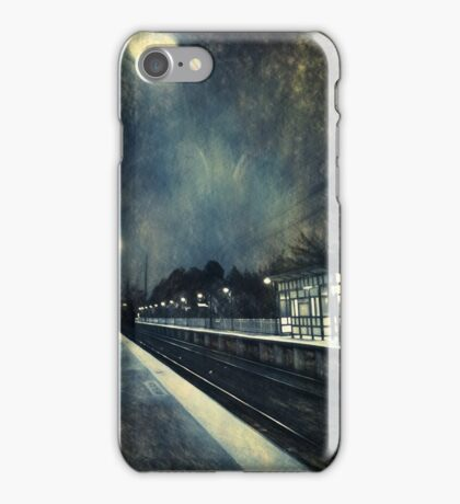Empty Platform at Dawn, Stony Brook Station iPhone Case/Skin