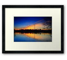Winter Sunset at Tiddenfoot Framed Print