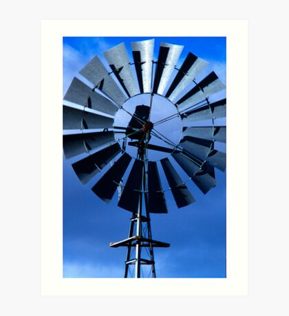 Farmyard Windmill Art Print