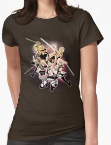 Shingeki no Kyojin - We are Freedomfighters²! Womens Fitted T-Shirt