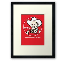 Whammy Fried Chicken Framed Print