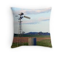 Broken Windmill and Tank Throw Pillow