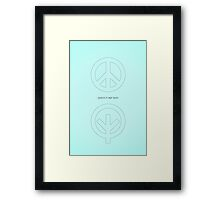 Peace in our Land Framed Print