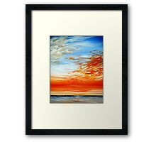 Red Sky, Blue Sky Framed Print