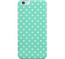 Mint Green and White Polka Dot Spot Pattern iPhone Case/Skin