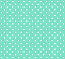 Mint Green and White Polka Dot Spot Pattern by TigerLynx