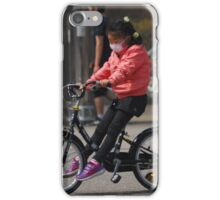 Young Korean Girl Learning to Ride a Bike iPhone Case/Skin