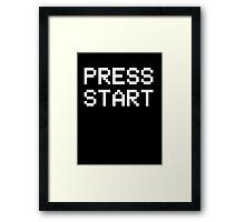 Video Games - PRESS START Framed Print