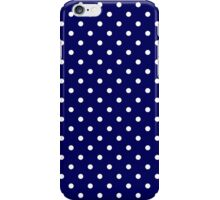Navy Blue and White Spotty Polka Dot Pattern iPhone Case/Skin