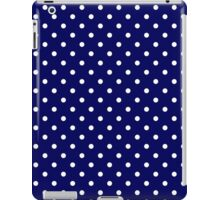 Navy Blue and White Spotty Polka Dot Pattern iPad Case/Skin