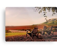 View from Cambria Winery, Santa Maria, CA Metal Print