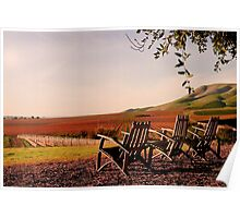 View from Cambria Winery, Santa Maria, CA Poster