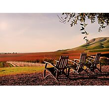 View from Cambria Winery, Santa Maria, CA Photographic Print