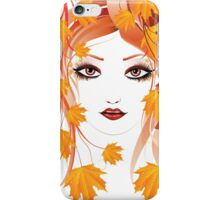Autumn Girl face 4 iPhone Case/Skin