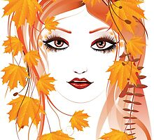 Autumn Girl face 4 by AnnArtshock