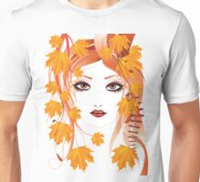 Autumn Girl face 4 Unisex T-Shirt