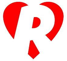 I love R - Heart R - Heart with letter R Photographic Print