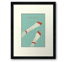Do some exercise Framed Print