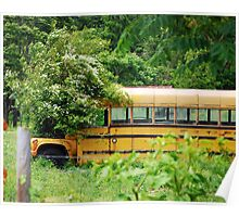 School Bus Planter Poster