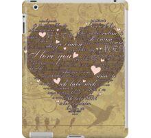Love Language 2 iPad Case/Skin