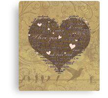 Love Language 2 Canvas Print