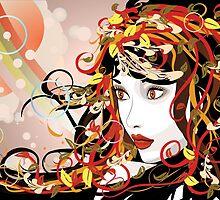 Autumn Girl face 3 by AnnArtshock