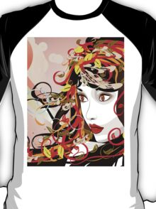 Autumn Girl face 3 T-Shirt